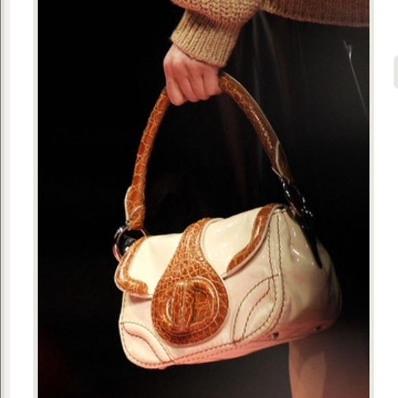 16e827651fc3 Prada Bags | Runway Bag Leather And Alligator Auth Card | Poshmark
